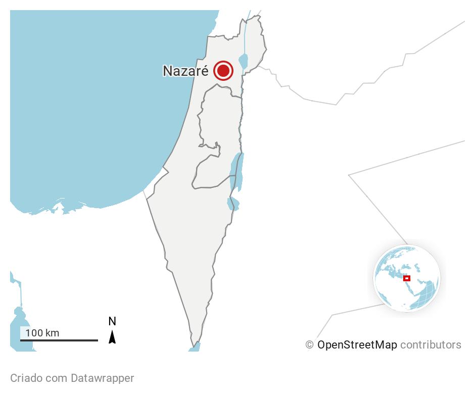 Localização de Nazaré-Israel